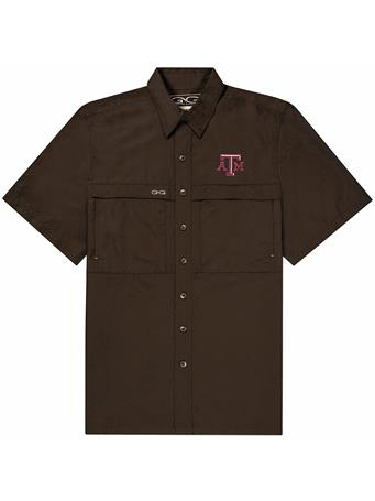 Texas A&M GameGuard Chocolate Men's MicroFiber Shirt