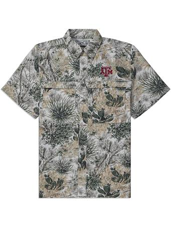 Texas A&M GameGuard Microfiber Camo Button Down Shirt