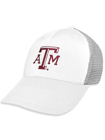 Texas A&M GameGuard White & Grey Meshback Cap