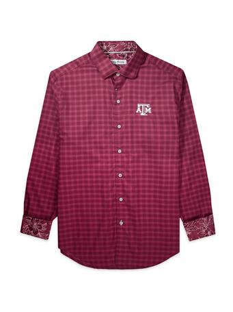 Texas A&M Tommy Bahama Sport Competitor Check Long Sleeve