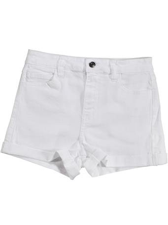 High Rise White Shorts