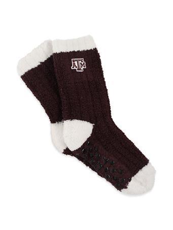 Texas A&M Warm Fuzzy Knit Socks