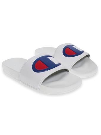 Champion White Slides