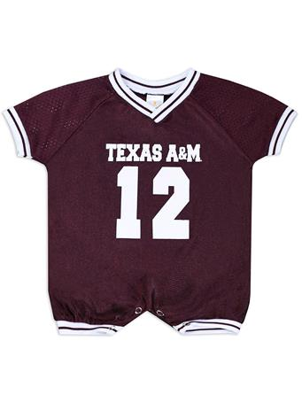 Texas A&M Infant Football Jersey Romper