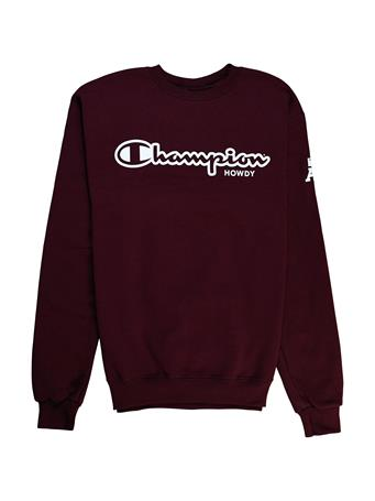 Texas A&M Champion Howdy Powerblend Fleece Crew