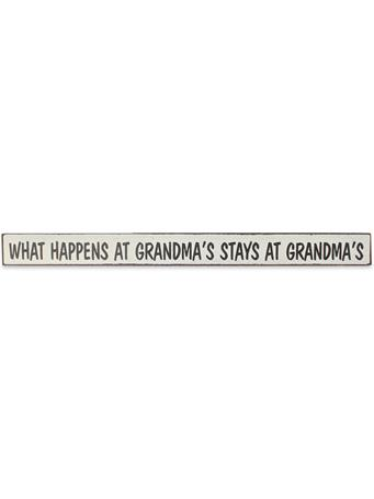 What Happens At Grandma's Skinnies Sign