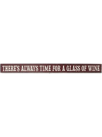 Maroon Always Time For Wine Skinnies Sign