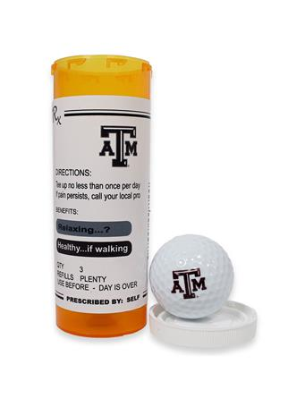 Texas A&M Prescription Tube Golf Balls