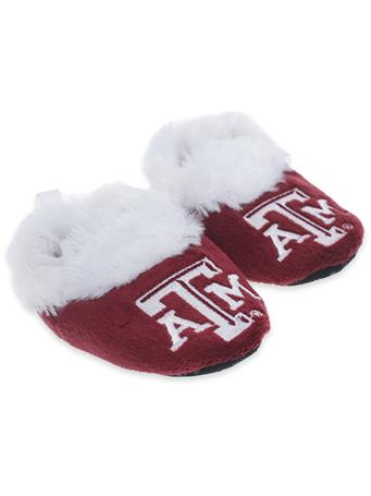 Texas A&M Slipper Baby Booties