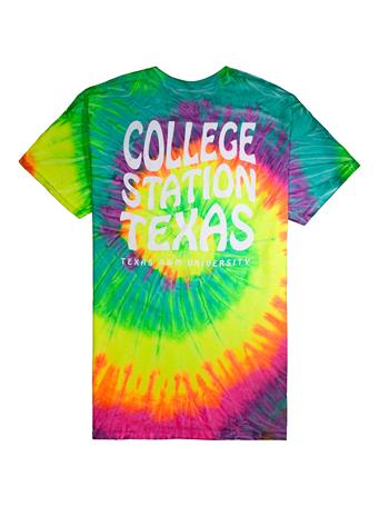 Texas A&M College Station Texas Tie Dye T-Shirt