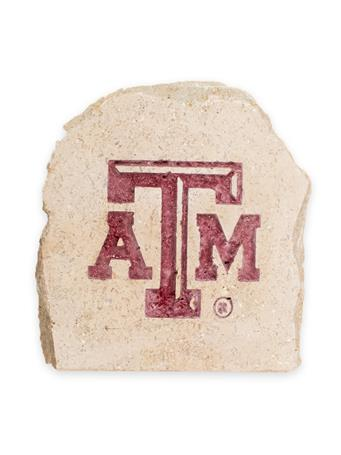 Texas A&M 5.5 X 5.5 Engraved Decorative Stone