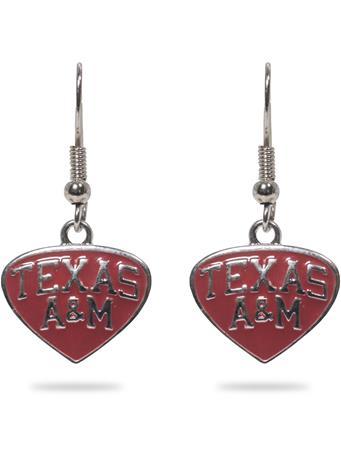 Texas A&M Maroon Enamel Earrings