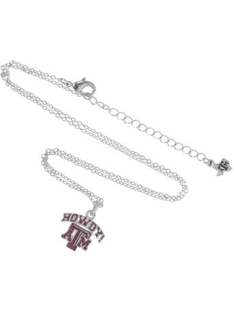 Texas A&M Howdy Pendant Necklace