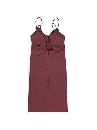 Maroon The Cara Midi Dress