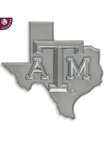 Texas A&M Matte Silver Lone Star Emblem