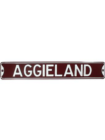 Texas A&M Aggieland Aluminum Sign