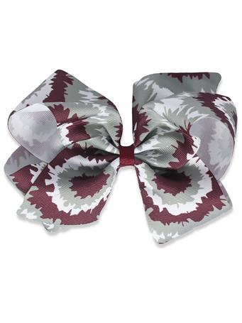 Maroon Tie Dye King Bow