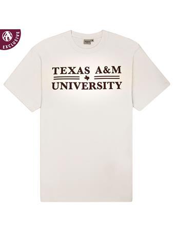 Texas A&M Double Bar Basic T-Shirt