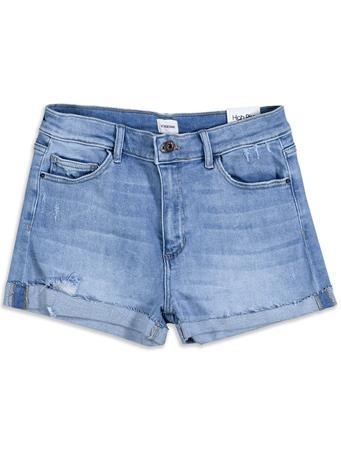 High Rise Retro Denim Shorts