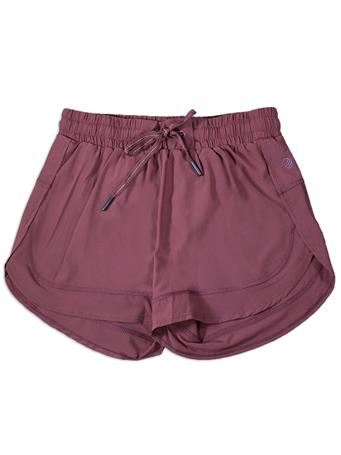 Maroon Women's Tied Athletic Shorts