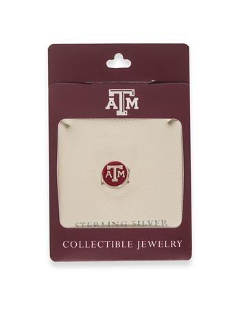 Texas A&M Round Enamel Bead