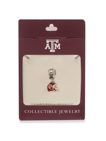 Texas A&M Football Helmet Dangle Bead