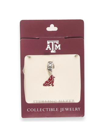 Texas A&M Reveille Dangle Bead
