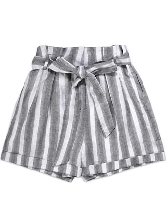 High Waisted Striped Women's Shorts