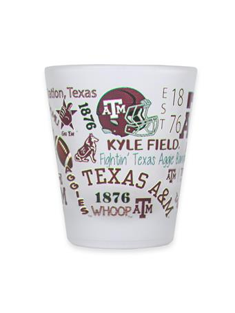 Texas A&M Aggies Frosted Shot Glass