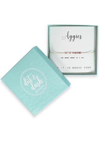 Texas A&M Aggies Morse Code Bracelet