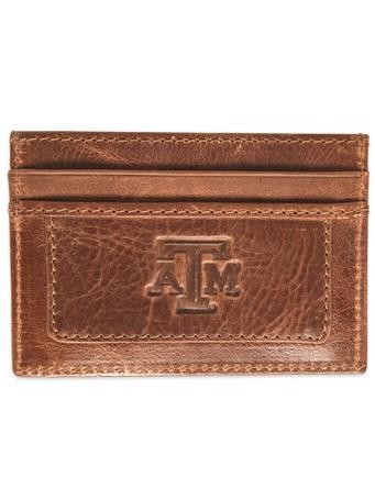 Texas A&M Sierra Money Clip Card Holder