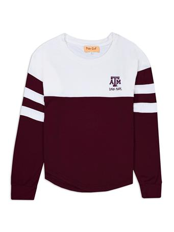 Texas A&M Girls Color Block Long Sleeve
