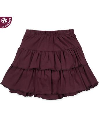 Maroon Toddler Tiered Ruffle Skirt
