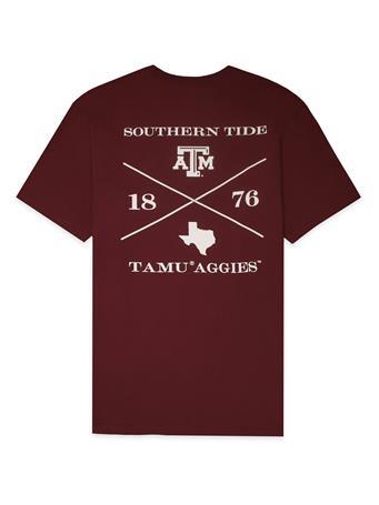Texas A&M Southern Tide Cross T-Shirt