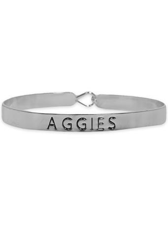 Texas A&M Aggies Silver Bangle