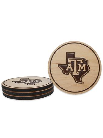 Texas A&M Lone Star Maple Coasters