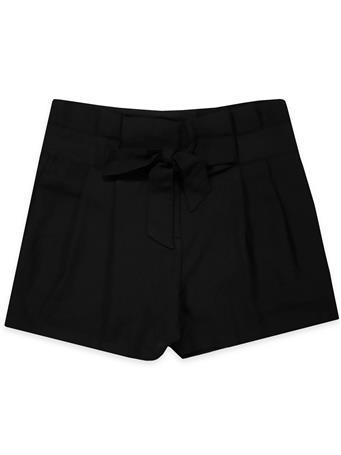 Black Woven Shorts