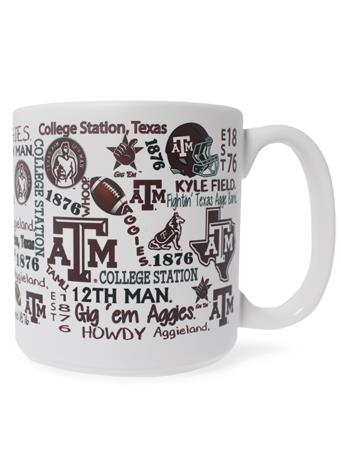 Texas A&M Aggies Wraparound Matte Mug