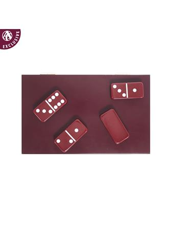 Maroon Domino Set