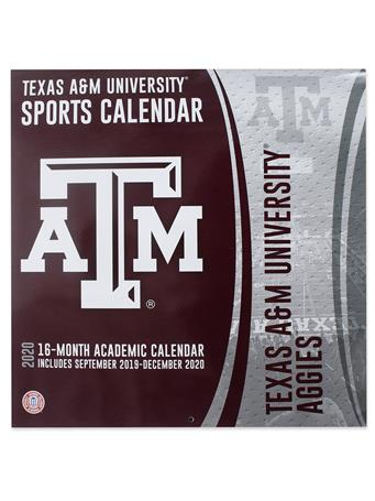 Texas A&M Aggies 2020 16-Month Football Calendar