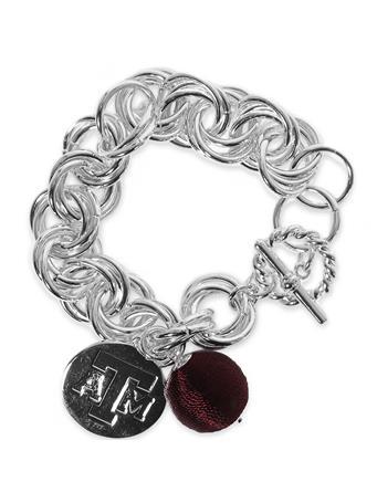 Texas A&M Viola Silver Bracelet