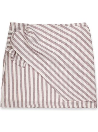 Maroon & White Striped Tie Skirt