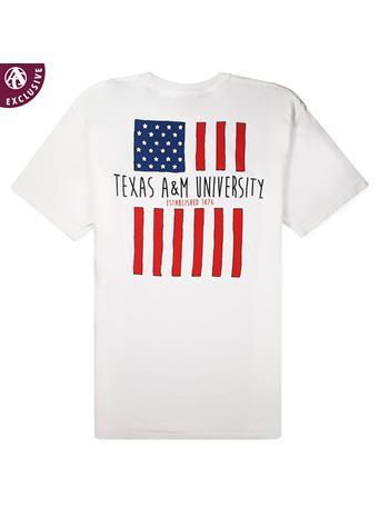 Texas A&M American Flag T-Shirt