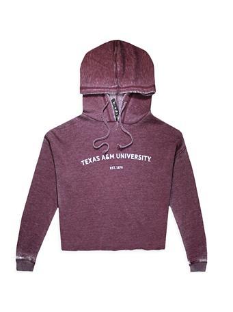 Texas A&M Campus Burnout Wash Hoodie