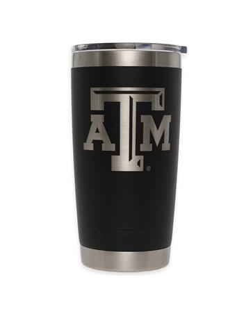 Texas A&M Yeti 20oz Black Tumbler