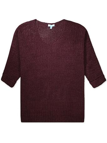 Maroon 3/4 Sleeve Sweater