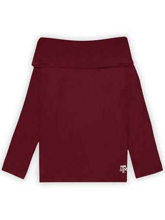 Texas A&M Emma Cowl Neck Long Sleeve