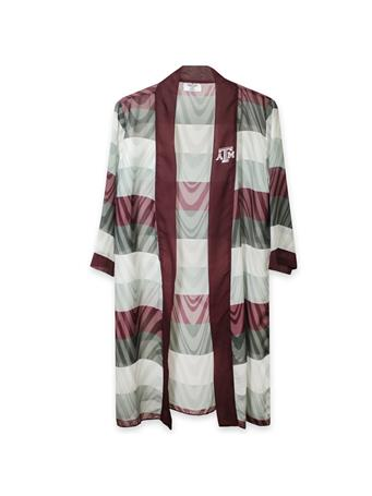 Texas A&M Lisa Illusion Striped Blouse