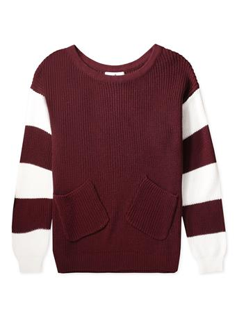 Maroon Whitney Sweater With Pockets