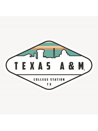 Texas A&M Diamond Skyline Dizzler Sticker